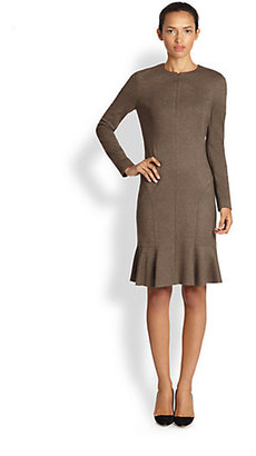 Akris Punto Zip-Front Flared-Hem Stretch Jersey Dress