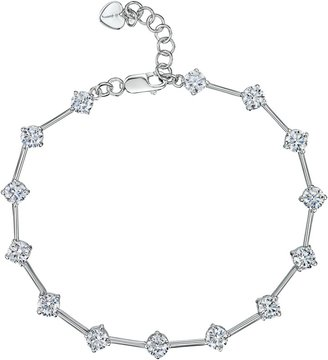 Jools by Jenny Brown Silver Cubic Zirconia Rounds Bracelet