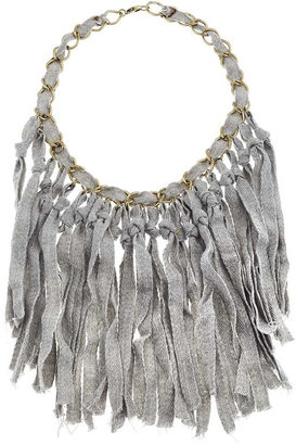 Topshop Fabric Strand Necklace
