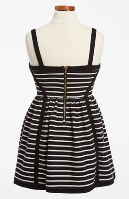 Juicy Couture 'Ottoman' Stripe Dress (Toddler Girls, Little Girls & Big Girls)