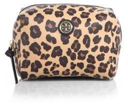 Tory Burch Kerrington Brigitte Leopard-Print Cosmetic Bag