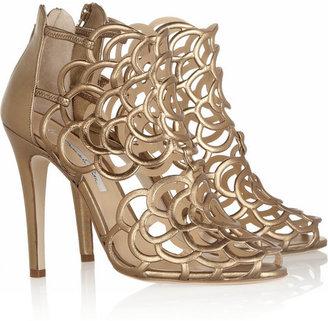 Oscar de la Renta Gladia metallic leather sandals