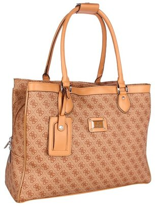 GUESS Scandal Shopper Tote (Cognac) - Bags and Luggage