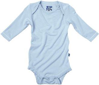 Green Baby KicKee Pants Long Sleeved Bodysuit - Lotus-Newborn