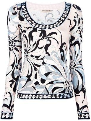 Emilio Pucci long sleeve print t-shirt