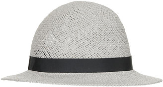Topshop Straw Wide Brim Cloche Hat