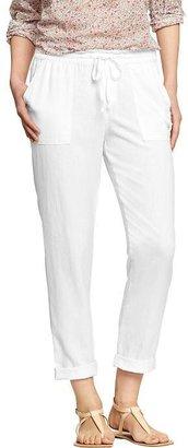 "Old Navy Women's Linen-Blend Pants (24"")"