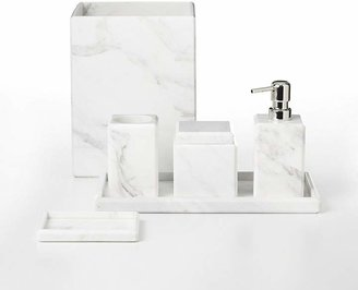 "Water Works Waterworks ""White Marble"" Soap Dish"