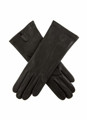 Dents Felicity Women's Silk Lined Leather Gloves BLACK 7.5