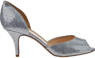 Kate Spade Sage Evening Pump Silver Fabric