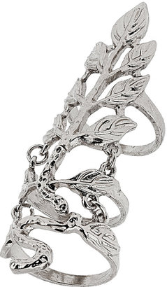Topshop Leaf Armour Double Ring