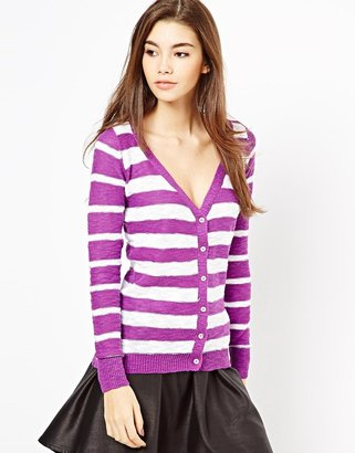 Shae Long Sleeve Stripe Cardigan
