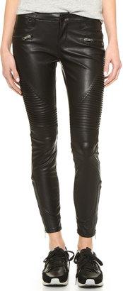 Blank Denim Black Vegan Leather Moto Pants $106 thestylecure.com