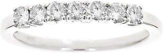 Affinity Diamond Jewelry Affinity 1/2 cttw 7-Stone Diamond Band Ring,14K White Gold