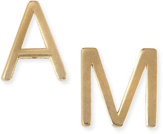 Maya Brenner Designs Yellow Gold Mini Initial Earring