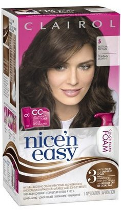 Clairol Nice 'n Easy Color Blend Foam Permanent Hair Color Medium Brown 5