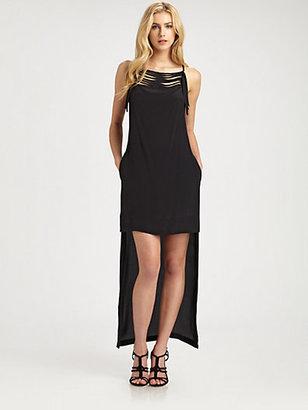 BCBGMAXAZRIA Tamsyn Hi-Lo Silk Dress