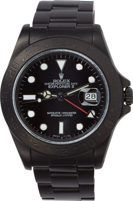 Black Limited Edition Matte Black Limited Edition Rolex Explorer II Watch $20,000 thestylecure.com
