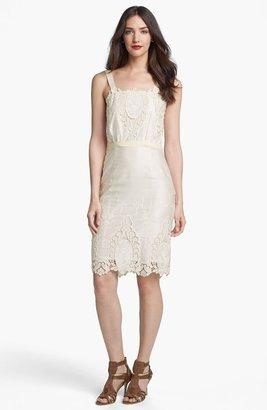 Rachel Roy Cotton & Silk Sheath Dress