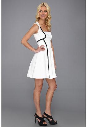 Nicole Miller Sporty Pique Full Skirt Dress