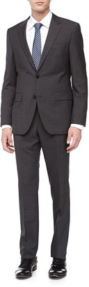 HUGO BOSS Grand Central Micro-Houndstooth Suit, Charcoal