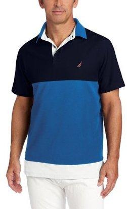 Nautica Men's Colorblock Short Sleeve Knit