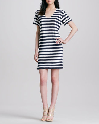 Theory Karelo Striped Slub Dress