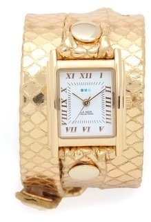La Mer Snake Simple Wrap Watch