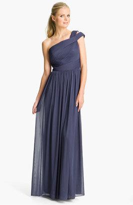 Monique Lhuillier ML Bridesmaids Cutout One-Shoulder Mesh Gown (Nordstrom Exclusive)