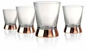 Artland Coppertino Four-Piece Double-Old-Fashioned Glass Set