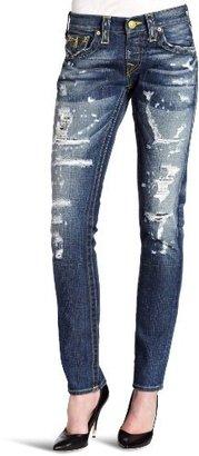 True Religion Women's Cameron Gold Fashion Vintage Jean