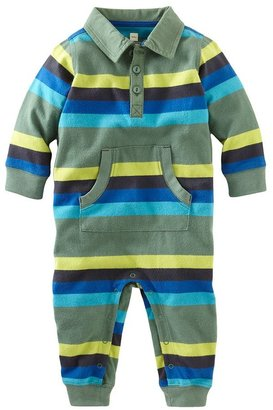 Tea Collection L/S Polo Romper - Pine-0-3 Months