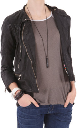 Doma Quilted Jacket With Knit Back