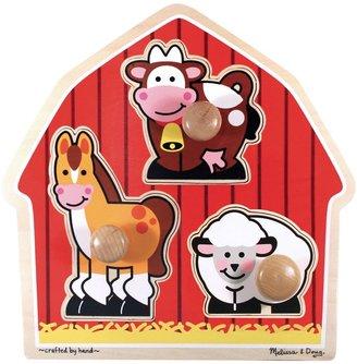 Melissa & Doug Barnyard Animals Jumbo Knob Puzzle