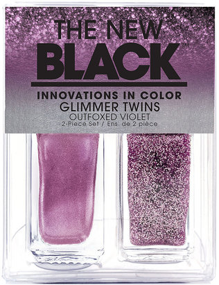 The New Black Glimmer twins 2-piece Nail Lacquer Set, Magical Moss 1 ea