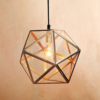 west elm Faceted Glass Pendant Lamp