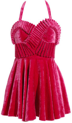 Christopher Kane Velvet dress with halter neck