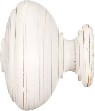 John Lewis & Partners Scratched White Wood Vase Finial, 35mm