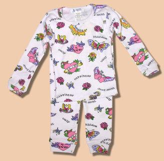 At Home Love Tattoo Long John Pajamas