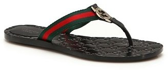 Gucci Web Strap Thong Sandals