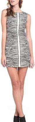 Julie Brown Designs Leah Zebra-Print Dress