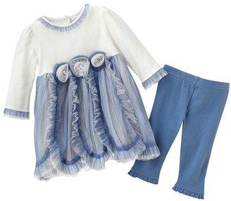 Nannette floral dress & leggings set - baby