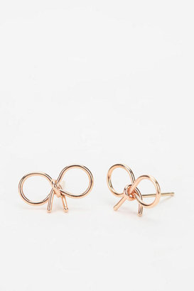 Urban Outfitters Bare Collection Knotted Bow Earring