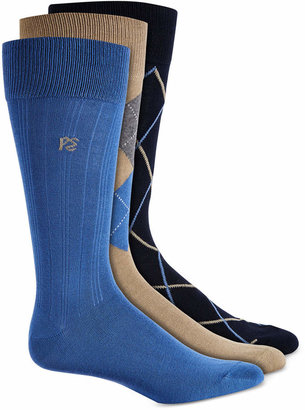 Perry Ellis Men 3-Pk. Patterned Dress Socks
