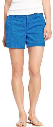 """Old Navy Women's Embroidered Shorts (5"""")"""