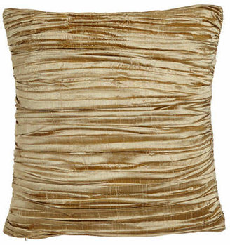 "Austin Horn Collection Antoinette Pleated Silk Pillow with Feather/Down Insert, 18""Sq."
