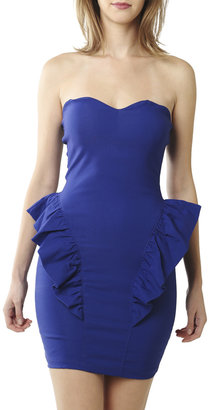 Arden B Sweetheart Taffeta Peplum Dress
