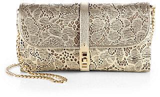 Burberry Theia Laser-Cut Floral Shoulder Bag