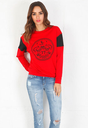 Pencey Lost Minds Sweatshirt in Scarlet