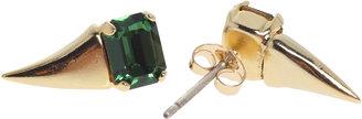 Swarovski Michael Spirito Jewelry Fang Earrings Emerald